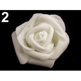 Dekoračná penová ruža Ø6 cm biela 10ks Stoklasa