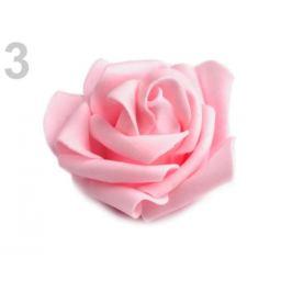 Dekoračná penová ruža Ø6 cm ružová sv. 10ks Stoklasa