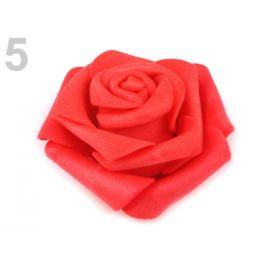 Dekoračná penová ruža Ø6 cm červená výrazná 10ks Stoklasa