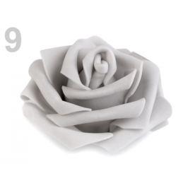 Dekoračná penová ruža Ø6 cm šedá najsv. 10ks Stoklasa