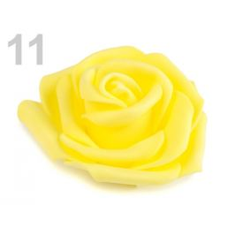 Dekoračná penová ruža Ø6 cm žltá   10ks Stoklasa