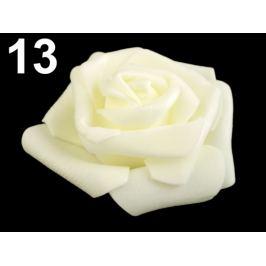 Dekoračná penová ruža Ø6 cm krémová sv. 10ks Stoklasa