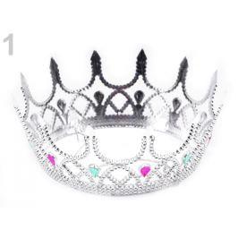 Kráľovská koruna karnevalová kráľovná strieborná 1ks Stoklasa
