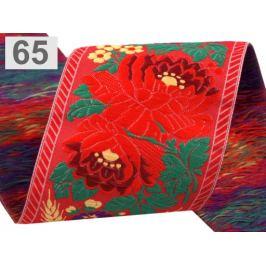 Vzorovka šírka 70mm krojová polyesterová červená sv. 1m