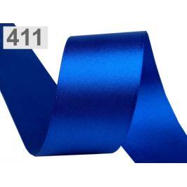 Atlasová stuha obojlíca šírka 40 mm modrá královská 20m
