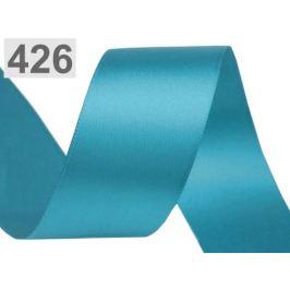 Atlasová stuha obojlíca šírka 40 mm tyrkenit 20m