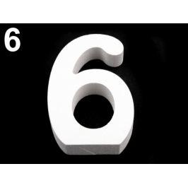 3D dekorácia číslice, otázník, vykričník výška 8 cm mliečna 1ks Stoklasa