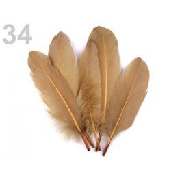 Husacie perie dĺžka 15-21 cm modrá sv. 5ks Stoklasa