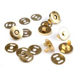 Magnetické zapínanie Ø18 mm zlaté zlatá 5sada Stoklasa