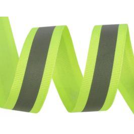 Reflexná páska šírka 20 mm na tkanině žltozelená ref. 10m Stoklasa