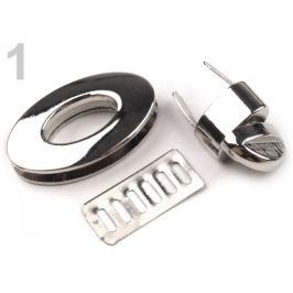 Zapínanie na kabelku 23x37 mm otočné nikel 1sada Stoklasa