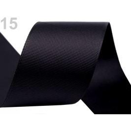 Rypsová stuha šírka 40 mm čierna 15m Stoklasa
