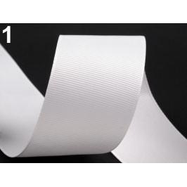 Rypsová stuha šírka 40 mm biela 15m Stoklasa