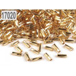 Rokajl Preciosa točené tyčky 6mm zlatá svetlá 20g
