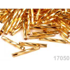 Rokajl Preciosa 20mm krútené tyčky zlatá 20g