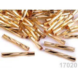 Rokajl Preciosa 20mm krútené tyčky zlatá svetlá 20g
