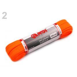 Šnúrka do topánok dĺžka 100 cm oranžová refexná 1pár