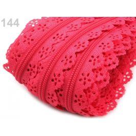 Špirálový zips šírka 3 mm čipkový metráž Pink Lemonade 1m Stoklasa