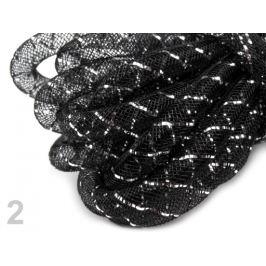 Dekoračná dutinka na aranžovanie Ø8 mm s lurexom čierna 27m Stoklasa