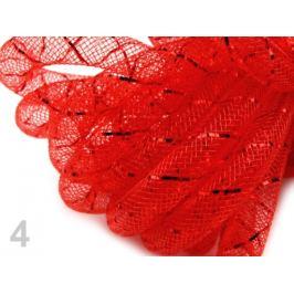 Dekoračná dutinka na aranžovanie Ø8 mm s lurexom červená vianočná  27m Stoklasa