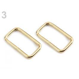 Prievlak / vsuvka šírka 25 mm na koženú galantériu zlatá svetlá 20ks Stoklasa