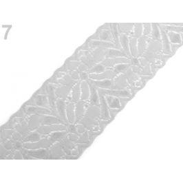 Elastická čipka  /  vsádka šírka 80 mm Vaporous Gray 13.5m Stoklasa
