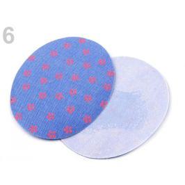 Nažehlovacie záplaty  riflové 6,8x8,5 cm modrá nebeská 2sáčok Stoklasa