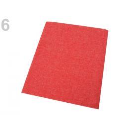 Nažehlovacie záplaty riflové 17x43 cm červená výrazná 1ks Stoklasa