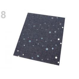 Nažehlovacie záplaty riflové 17x43 cm šedomodrá  1ks Stoklasa