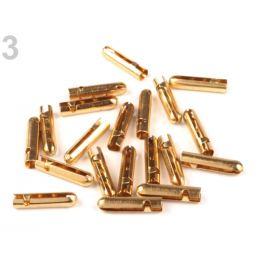 Koncovka na šnúrky 4x18 mm hľadká zlatá 5ks Stoklasa
