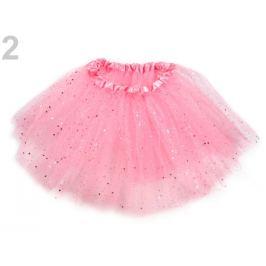Karnevalová sukienka s glitrami ružová sv. 1ks Stoklasa