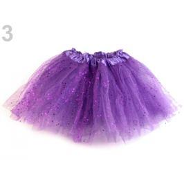Karnevalová sukienka s glitrami fialová purpura 1ks Stoklasa