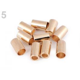 Kovová koncovka Ø3,5 mm,Ø5,5 mm ružovozlatá 4ks Stoklasa