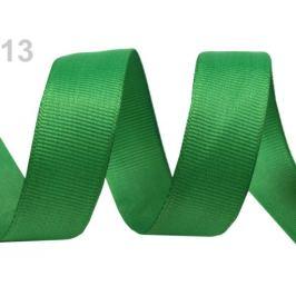Rypsová stuha šírka 15 mm návin 5 m zelená irská 5m Stoklasa