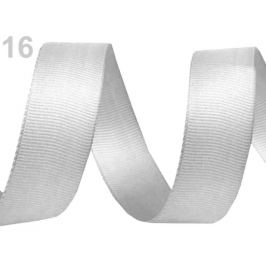 Rypsová stuha šírka 15 mm návin 5 m šedá najsv. 5m Stoklasa
