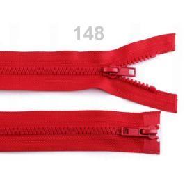 Zips kostený 5mm deliteľný 2 bežce 90 cm bundový High Risk Red 1ks Stoklasa
