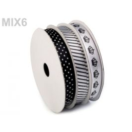 Dekoračná stuha mix 3x4,5 m bieločierná 3ks Stoklasa