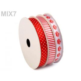 Dekoračná stuha mix 3x4,5 m červená 3ks Stoklasa