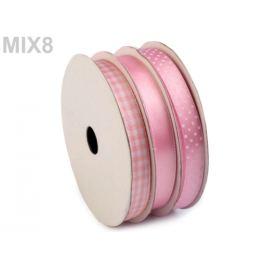 Dekoračná stuha mix 3x4,5 m ružová sv. 3ks Stoklasa