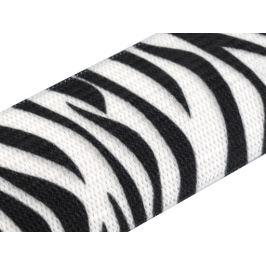 Guma šírka 27 mm traková, károvaná Black&White 1m Stoklasa