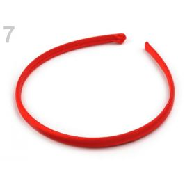 Saténová čelenka do vlasov červená 1ks Stoklasa