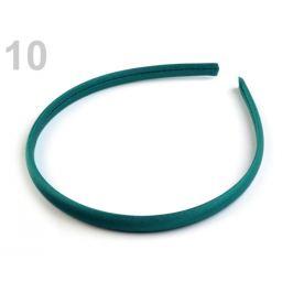 Saténová čelenka do vlasov zelená smaragdová 1ks Stoklasa