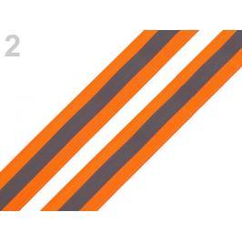 Reflexná páska šírka 25 mm na tkanine oranžová   5m Stoklasa