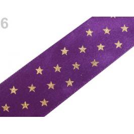Stuha hviezdy šírka 25 mm fialová purpura 20m Stoklasa