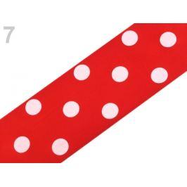 Saténová stuha s bodkami šírka 51 mm červená 20m Stoklasa