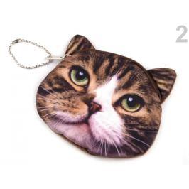 Peňaženka mačka 11x11,5 cm béžová 1ks Stoklasa