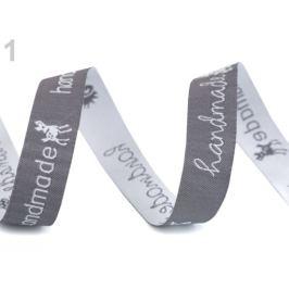 Vzorovka  handmade šírka 16 mm šedo-biela 9m Stoklasa