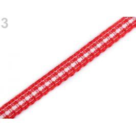 Károvaná stuha šírka 5 mm červená 27m Stoklasa