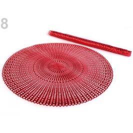 Metalické prestieranie Ø41 cm červená 2ks Stoklasa