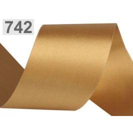 Atlasová stuha obojlíca šírka 50 mm zlatá 20m